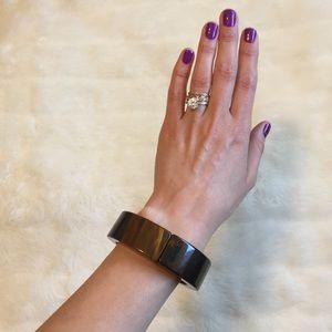 Gorgeous brown wood pattern bangle bracelet
